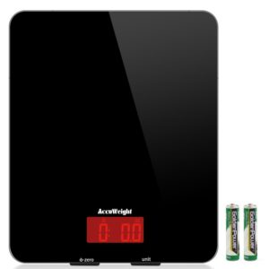 ACCUWEIGHT AW-KS001 digitale Küchenwaage aus Sicherheitsglas