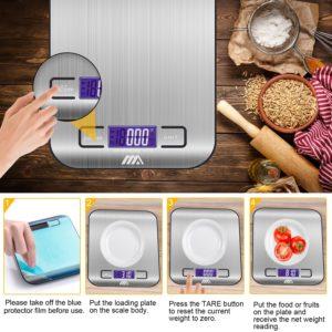 Küchenwaage Digitalwaage Professionelle Waage Electronische Waage, Adoric Küchenwaage