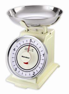 Karcher WAK 811 Mechanische Retro Küchenwaage, max. Wiegekapazität 5 kg