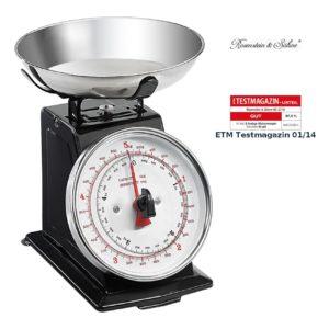 Rosenstein & Söhne Feinwaage Analoge Metall Retro-Küchenwaage bis 5 kg